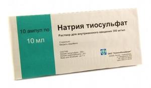 Тиосульфат натрия для чистки печени